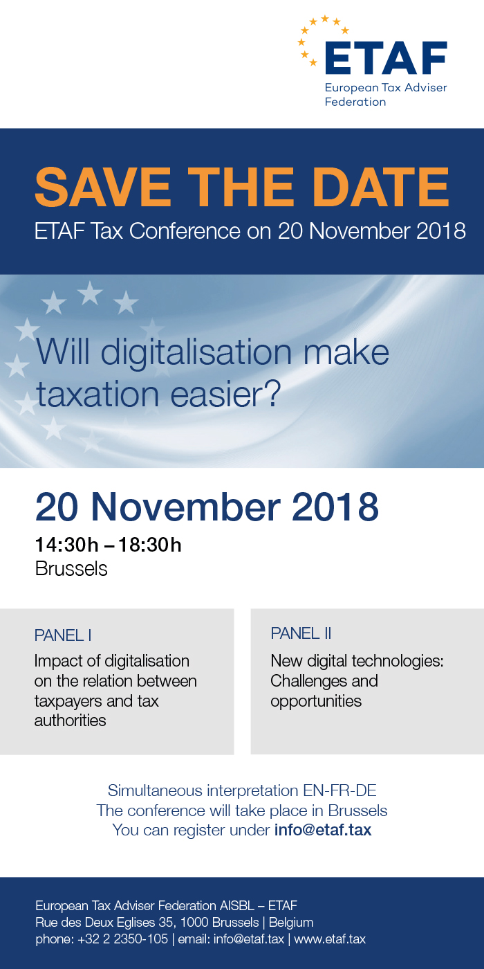 20181120 ETAF Save the Date Conference